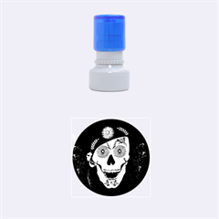 Funny Happy Skull Rubber Round Stamps (Small)