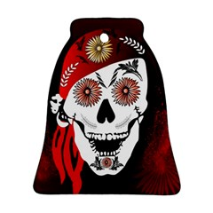 Funny Happy Skull Bell Ornament (2 Sides)