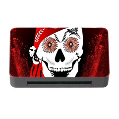 Funny Happy Skull Memory Card Reader with CF