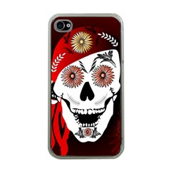 Funny Happy Skull Apple iPhone 4 Case (Clear)