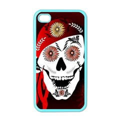 Funny Happy Skull Apple iPhone 4 Case (Color)