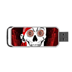 Funny Happy Skull Portable USB Flash (One Side)