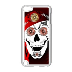 Funny Happy Skull Apple iPod Touch 5 Case (White)