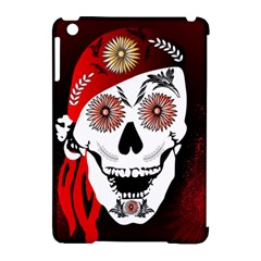 Funny Happy Skull Apple iPad Mini Hardshell Case (Compatible with Smart Cover)