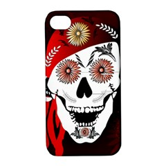 Funny Happy Skull Apple iPhone 4/4S Hardshell Case with Stand