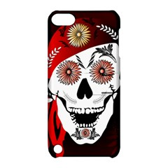 Funny Happy Skull Apple iPod Touch 5 Hardshell Case with Stand