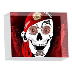 Funny Happy Skull 5 x 7  Acrylic Photo Blocks
