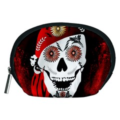Funny Happy Skull Accessory Pouches (medium)