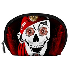 Funny Happy Skull Accessory Pouches (Large)