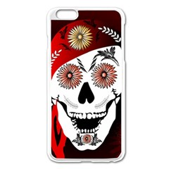 Funny Happy Skull Apple iPhone 6 Plus Enamel White Case