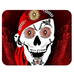 Funny Happy Skull Double Sided Flano Blanket (medium)