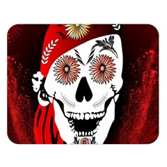 Funny Happy Skull Double Sided Flano Blanket (Large)