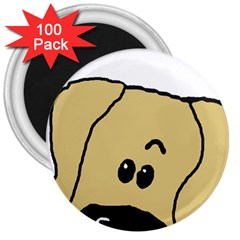 Peeping Fawn Great Dane With Undocked Ears 3  Magnets (100 pack)