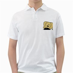Peeping Fawn Great Dane With Undocked Ears Golf Shirts