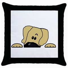 Peeping Fawn Great Dane With Undocked Ears Throw Pillow Cases (Black)