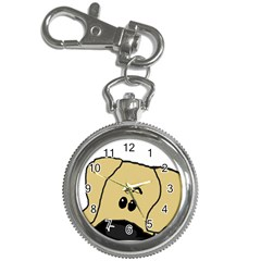Peeping Fawn Great Dane With Undocked Ears Key Chain Watches