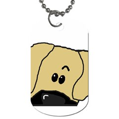 Peeping Fawn Great Dane With Undocked Ears Dog Tag (Two Sides)