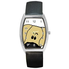 Peeping Fawn Great Dane With Undocked Ears Barrel Metal Watches