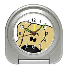 Peeping Fawn Great Dane With Undocked Ears Travel Alarm Clocks