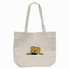 Peeping Fawn Great Dane With Undocked Ears Tote Bag (Cream)