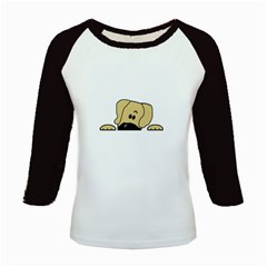Peeping Fawn Great Dane With Undocked Ears Kids Baseball Jerseys