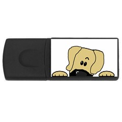 Peeping Fawn Great Dane With Undocked Ears USB Flash Drive Rectangular (4 GB)