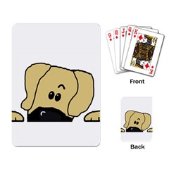 Peeping Fawn Great Dane With Undocked Ears Playing Card
