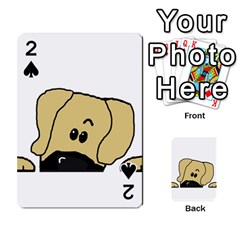 Peeping Fawn Great Dane With Undocked Ears Playing Cards 54 Designs