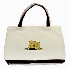 Peeping Fawn Great Dane With Undocked Ears Basic Tote Bag (Two Sides)