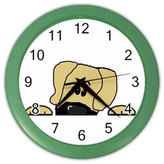 Peeping Fawn Great Dane With Undocked Ears Color Wall Clocks