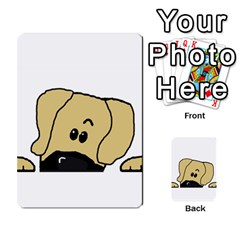 Peeping Fawn Great Dane With Undocked Ears Multi-purpose Cards (Rectangle)