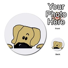 Peeping Fawn Great Dane With Undocked Ears Multi-purpose Cards (Round)