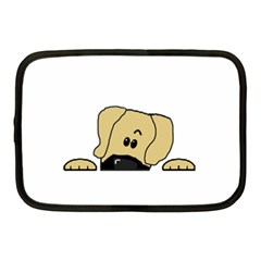 Peeping Fawn Great Dane With Undocked Ears Netbook Case (Medium)