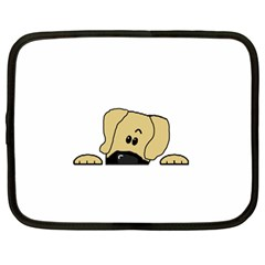 Peeping Fawn Great Dane With Undocked Ears Netbook Case (Large)