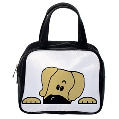 Peeping Fawn Great Dane With Undocked Ears Classic Handbags (One Side)