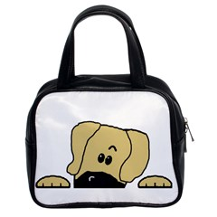 Peeping Fawn Great Dane With Undocked Ears Classic Handbags (2 Sides)
