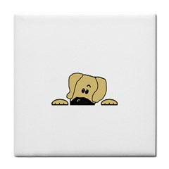 Peeping Fawn Great Dane With Undocked Ears Face Towel