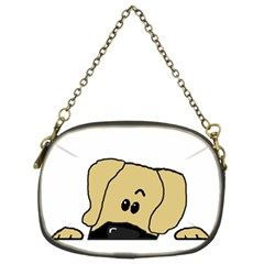 Peeping Fawn Great Dane With Undocked Ears Chain Purses (Two Sides)