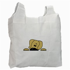 Peeping Fawn Great Dane With Undocked Ears Recycle Bag (Two Side)