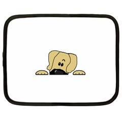 Peeping Fawn Great Dane With Undocked Ears Netbook Case (XL)
