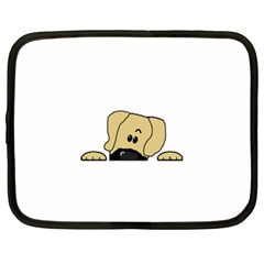 Peeping Fawn Great Dane With Undocked Ears Netbook Case (XXL)