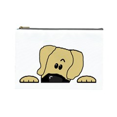 Peeping Fawn Great Dane With Undocked Ears Cosmetic Bag (Large)