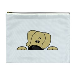 Peeping Fawn Great Dane With Undocked Ears Cosmetic Bag (XL)