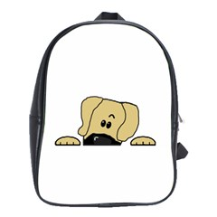 Peeping Fawn Great Dane With Undocked Ears School Bags(Large)