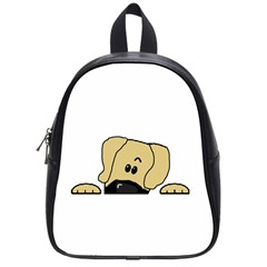 Peeping Fawn Great Dane With Undocked Ears School Bags (Small)