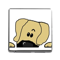 Peeping Fawn Great Dane With Undocked Ears Memory Card Reader (Square)