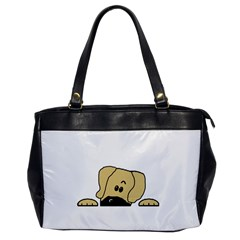 Peeping Fawn Great Dane With Undocked Ears Office Handbags