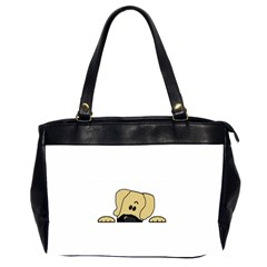 Peeping Fawn Great Dane With Undocked Ears Office Handbags (2 Sides)