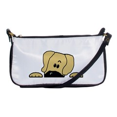Peeping Fawn Great Dane With Undocked Ears Shoulder Clutch Bags