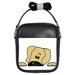 Peeping Fawn Great Dane With Undocked Ears Girls Sling Bags